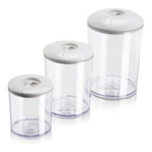 Vacuumbokser sett à 0.75 1.5 3 liter